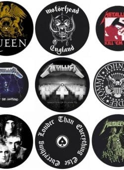 slipmat motorhead metallica queen