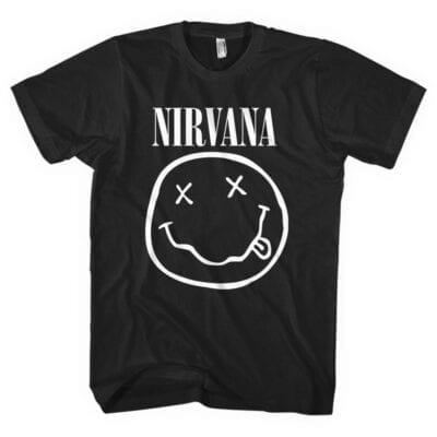 nirvana white smiley majica