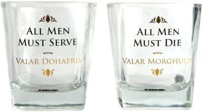Game of Thrones - All Men Must Die viski set (2 čaše)
