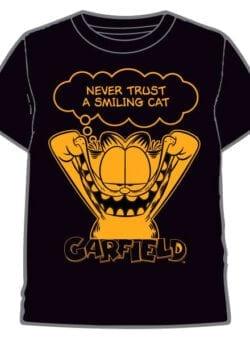 garfield never trust a smiling cat majica